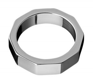 Stainless Steel Hex Nut Cock Ring 2 Inches
