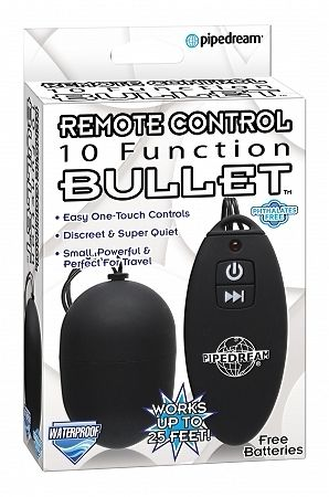 Remote Control Bullet Black 10 Function