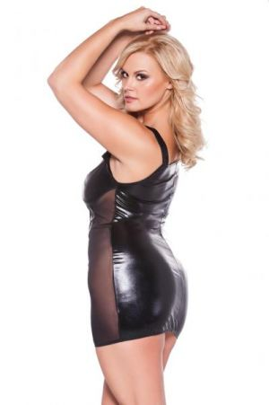 Kitten Cut Out Dress Black Queen
