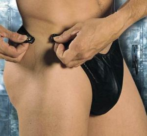 Mens Revealing Leahter Thong