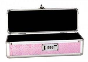 Lockable Vibrator Case Small Pink
