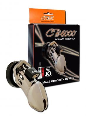 """Cb-6000 Male Chastity Device 3 1/4"""" Chrome Cage"""