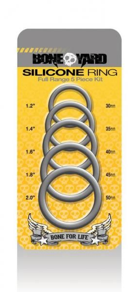 Boneyard Silicone Ring 5 Piece Kit Gray