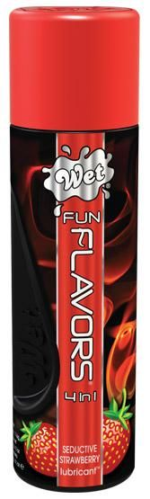 Wet Fun Flavors Seductive Strawberry 4.1oz Bottle