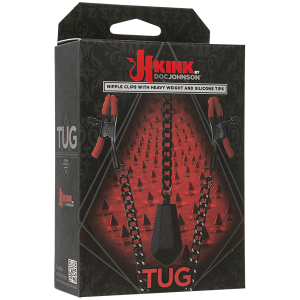 Kink Tug Nipple Clips With Heavy Weight Silicone Tips
