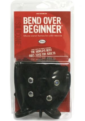 Bend Over Beginner Vibrating Harness Kit -Black