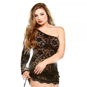Dress & Thong 1x/2x Black