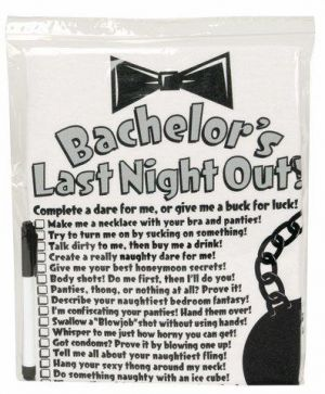 Bachelor's Last Night Out! T Shirt with Pen