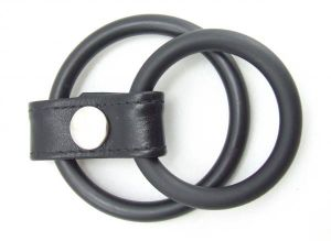 H2H Cock Ring Nitrile 1.25 inches Black