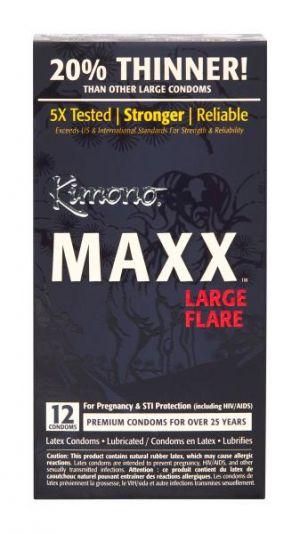 Kimono Maxx Large Flare Condoms 12 Pack