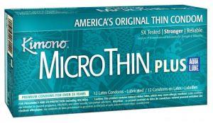 Kimono Micro Thin Condoms Aqua Lube 12 Pack
