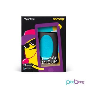 Remoji Blowhole M-Cup Black Masturbation Sleeve