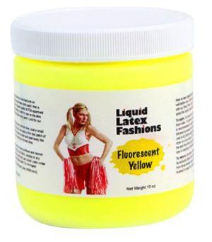 Liquid Latex Fluorescent Yellow 16oz Body Paint