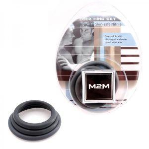M2M Ring Nitrile 3 Piece Set Gray