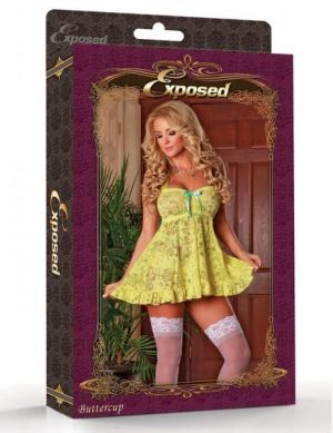 Babydoll & Panty Set Yellow Large
