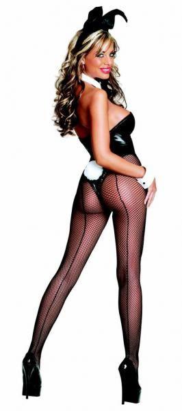Club Bunny Costume Large Black