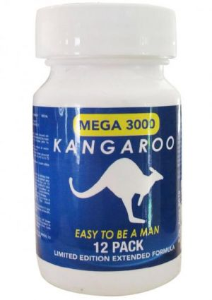 Kangaroo For Him Mega 3000 Blue Bottle 12 Tablets