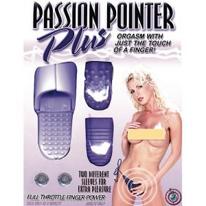 Passion Pointer Plus Finger Vibe With Sleeves - Purple