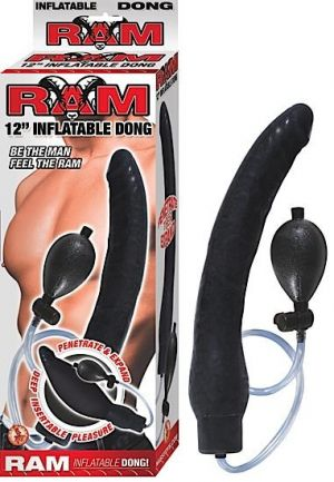 Ram Inflatable Latex Dong 12 Inch- Black
