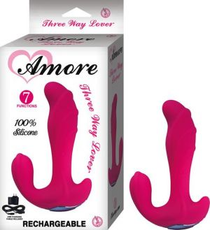 Amore Three Way Lover Pink Vibrator