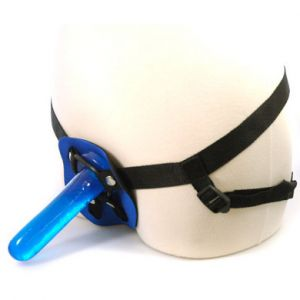 First Timers Strap On Set 5.5 Inch - Blue