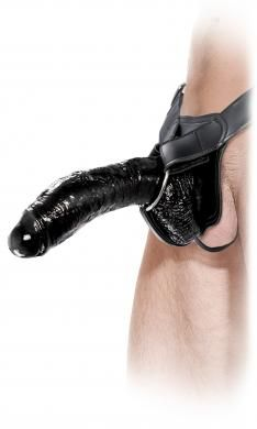 Fetish Fantasy Extreme Hollow Strap On Black 10 inches
