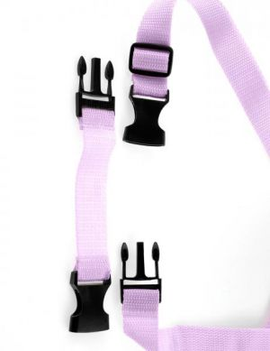 Tru Fit Strap On Purple Harness Dildo Set