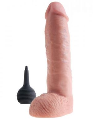 King Cock 11in Squirting Cock - Beige