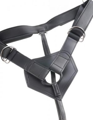 King Cock Strap On Harness 8 inches Dildo Brown