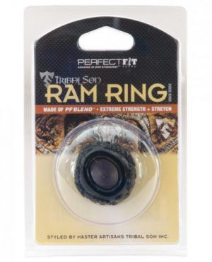 Tribal Son Ram Ring Black