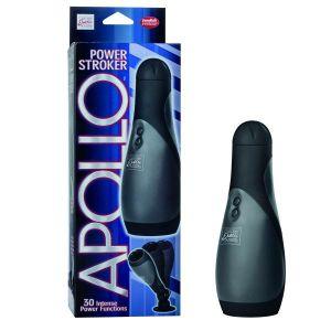 Apollo Power Stroker Masturbator Black 8.5 Inch