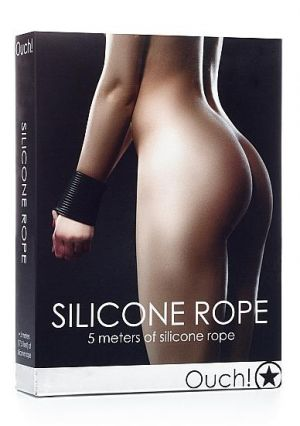 Ouch Silicone Rope Black 17.5ft