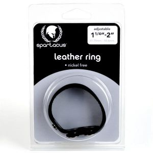 Nickel Free Leather 3 Snap Cock Ring