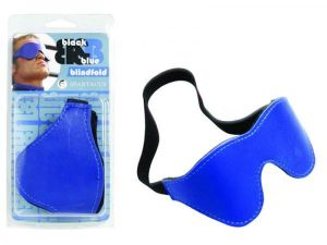 Black and Blue Blindfold Furry Lined O/S