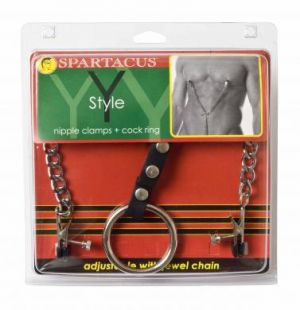 Adjustable Nipple Clamps with Cock Ring