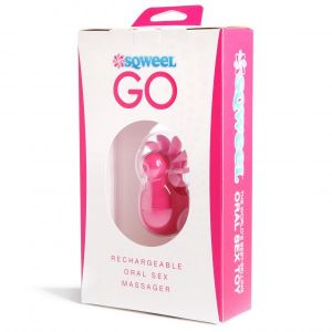 Sqweel Rechargeable Oral Sex Simulator Pink
