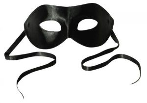 Midnight Satin Mask Black O/S