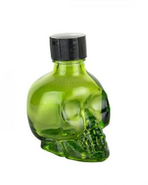 Liquid Latex Sparkle Body Glitter Green Skull 1oz